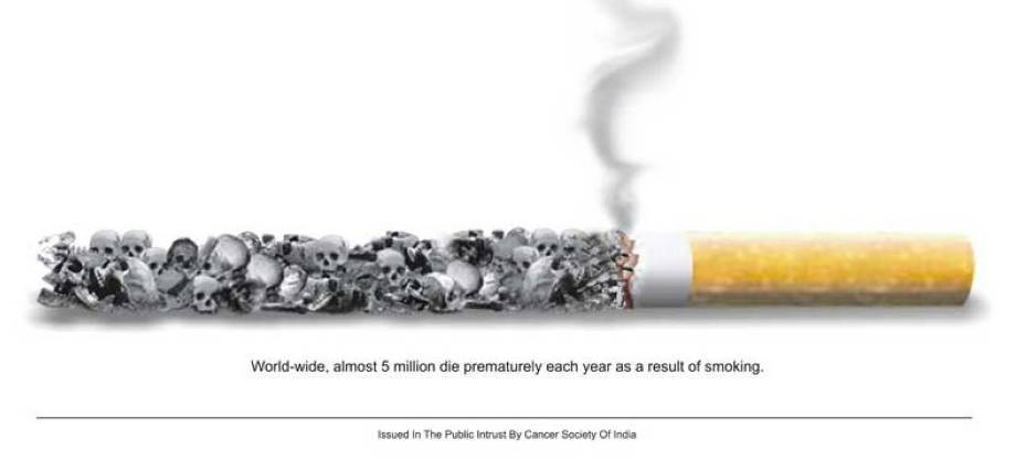smoking kills people. of smoking have peaked,