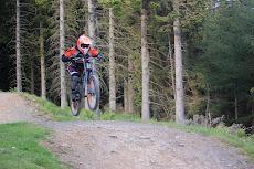 Andrea Webster Mountain biking