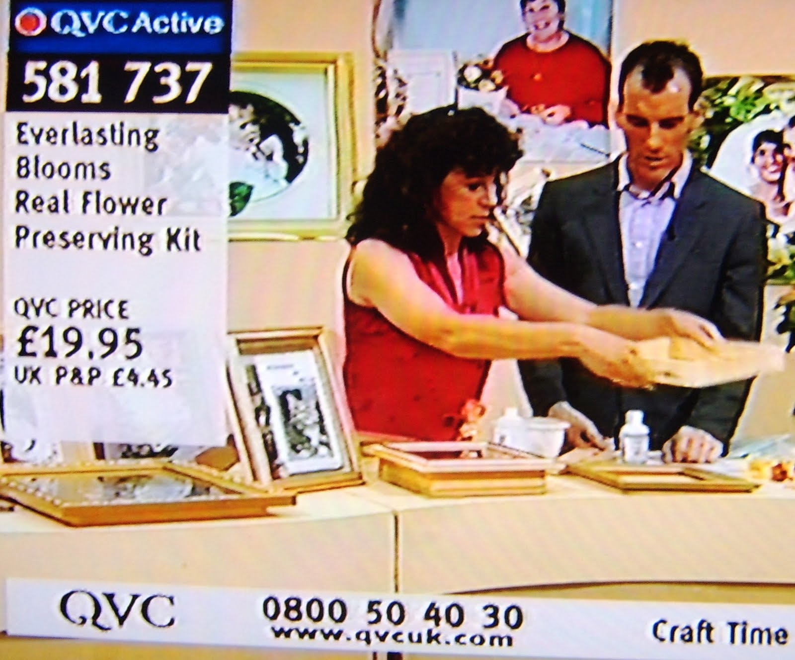 Andrea Webster QVC demonstration of Real Flower Preserve kit on You Tube
