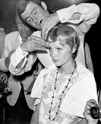 Rosemarys Baby Farrow Haircut 1crop Vidal Sassoon: the Movie Premiere