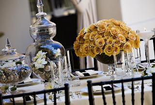 apothecary jar roses