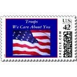 TROOPS WE CARE ABOUT YOU - POSTAGE