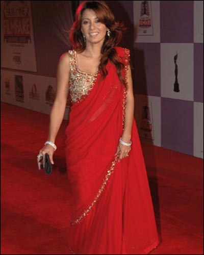 Bollywood Actress looking Cute in Red Dress navel show