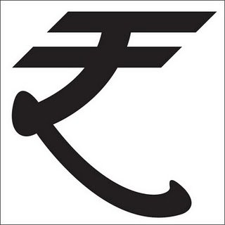 The official Indian Rupee Symbol.