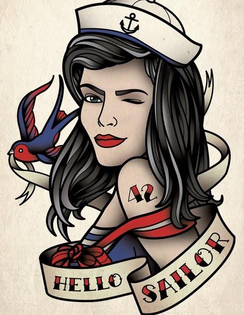 sams blog hello sailor girl tattoo. Black Bedroom Furniture Sets. Home Design Ideas