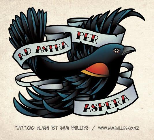 black birds with orange wings