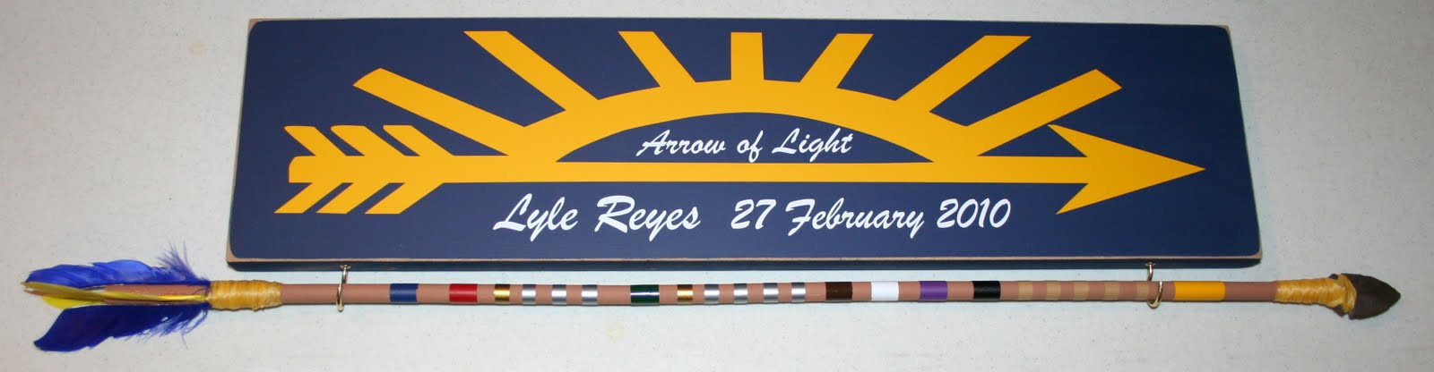 Arrow Of Light Awards http://vinylbyrequest.blogspot.com/2010/09/arrow-of-light-award-vinyl-kit.html