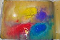 Rain Art with Tempera Paint