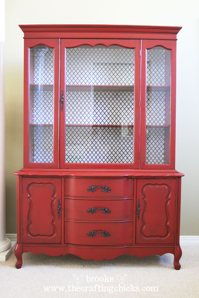 Refinishing a dining room hutch by brooke at crafting chicks for How to build a dining room hutch