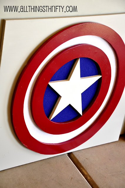 Captain America Wall Art captain america wall art, part three of benson's room! | all
