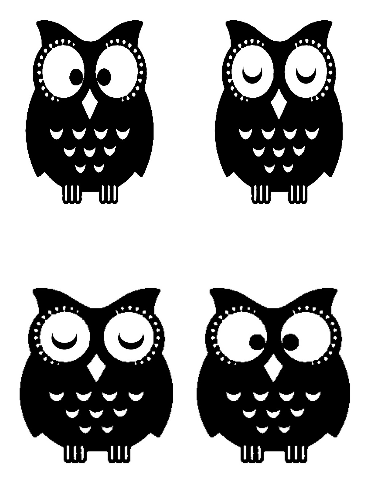 Printable owl stencils - photo#10