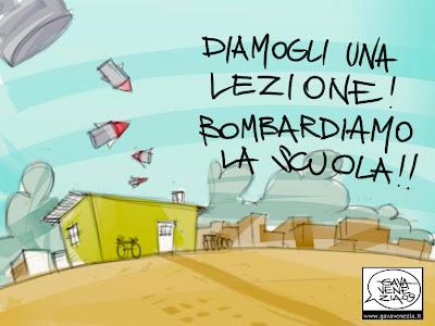 Lezione Gaza Palestina Gava satira vignette