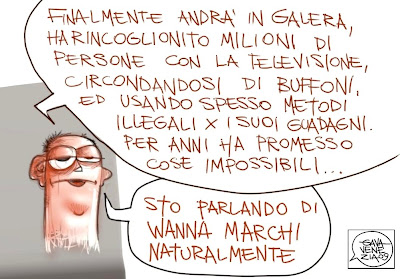 Galera Berlusconi truffatore Gava satira vignette