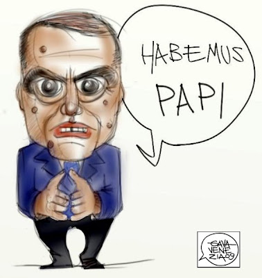 Papi Vespa Berlusconi Gava satira vignette