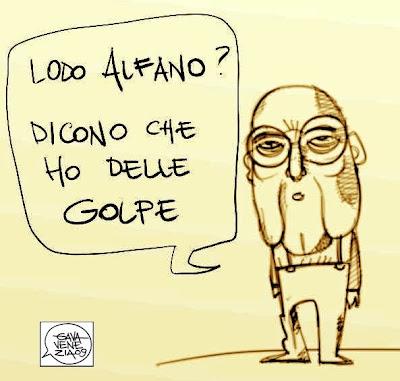 Napolitano Gava satira vignette