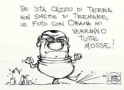 Gava satira vignette Berlusconi Obama foto