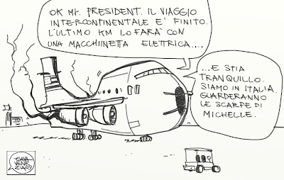 Viaggio in Italia Obama Gava satira vignette