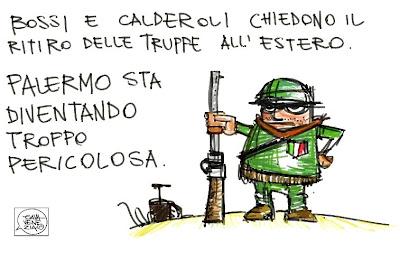 Gava Satira Vignette Bossi Calderoli