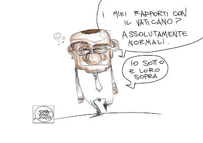 Gava Satira Vignette Vaticano Berlusconi