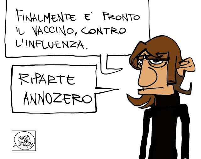 Gava Satira Vignette Federico De Lazzari vaccino influenza