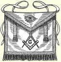 Masonski fartuch z okiem boga slonce