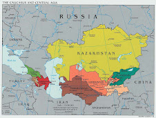 The map of the Shanghai Cooperation Organization
