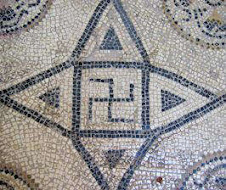 Swastika on a Roman mosaic