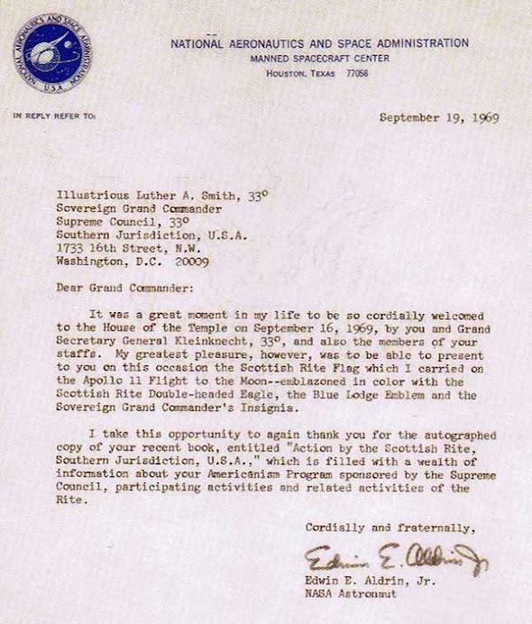 Buzz Aldrin letter