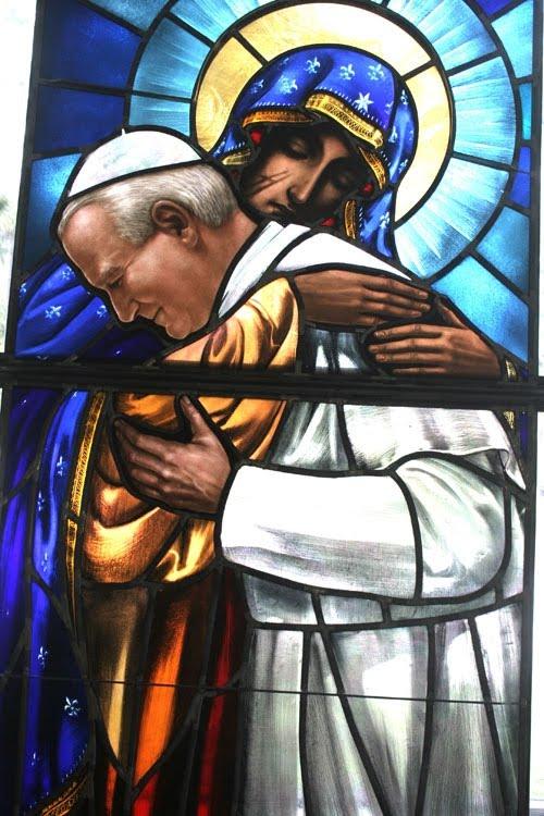 Orlando, Fl. Obraz Jana Pawla II w rezydencji biskupa Wenskyego