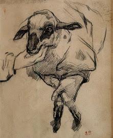 Delacroix- Nowonarodzony baranek