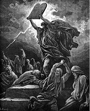 Moses destroys the Golden Calf