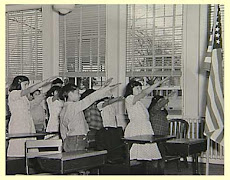Pledge Salute in Hawaii school, 1941