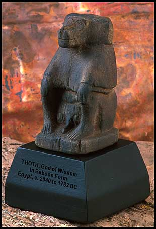Thoth, baboon-shaped Egyptian god