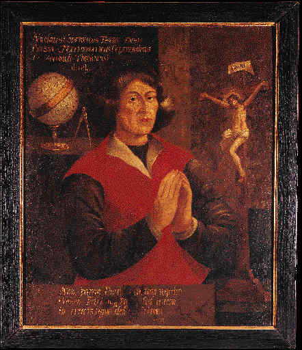 Portrait of Copernicus in Germen HS in Weissenhorn