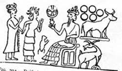 Babilonska scene religijna z krzyzem