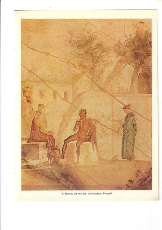 Pan i nimfy - Malowidlo z Pompei