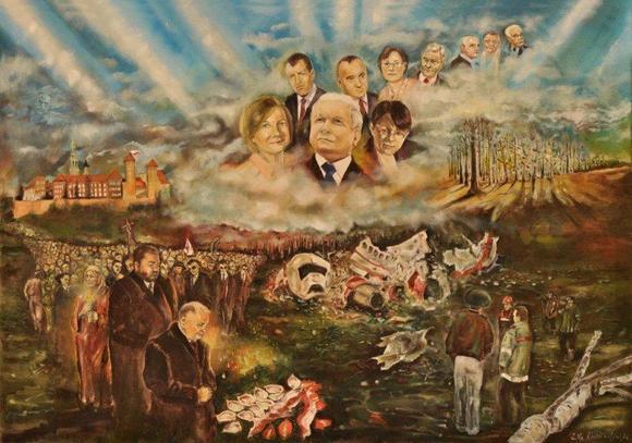 Lech Kaczynski z twarza Lecha Walesy!