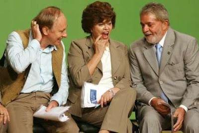 Carlos Minc, Dilma Rousseff and President Luiz Inacio Lula da Silva