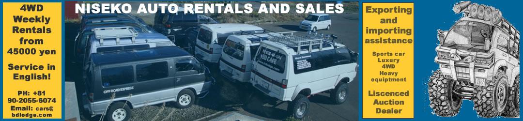 Niseko Auto Rentals & Sales