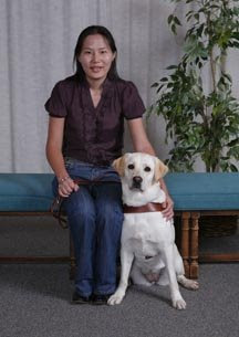 Uyanga Erdenebold and her Guide Dog Gladys