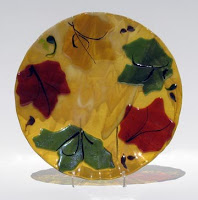 A piece of glass art