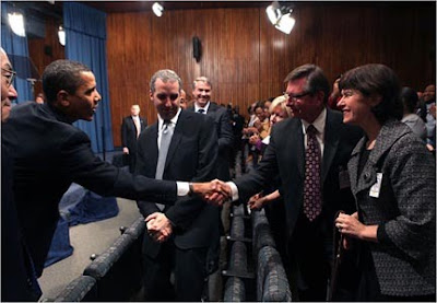 GDB alumna Kathy Peery meeting President Barak Obama