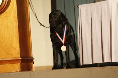 Keifer at the awards ceremony