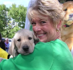 Puppy raiser Peggy Sundstrom. Photo: The SF Examiner