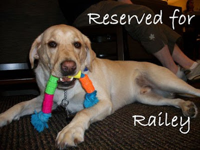 Reserved for Railey sign