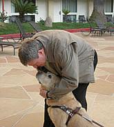George hugs Nesbit outside the CSUN Conference