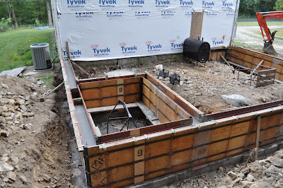 The grange house garage foundation 1 for Poured foundation walls