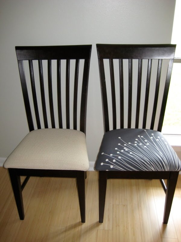 DIY Before And After: Dining Room Chairs