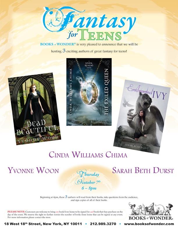 Cinda Williams Chima Writer Upcoming Exiled Queen Tour