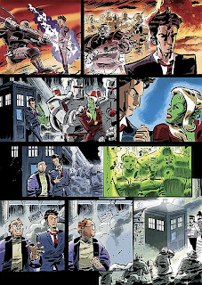 Dan McDaid's Hotel Historia strip from Doctor Who Magazine